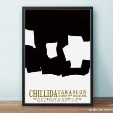 Arte: CARTEL DE CHILLIDA EXPO 92 - TARASCON - CLOITRE DES CORDELIERS -TAMAÑO 74 X 51. Lote 208014881