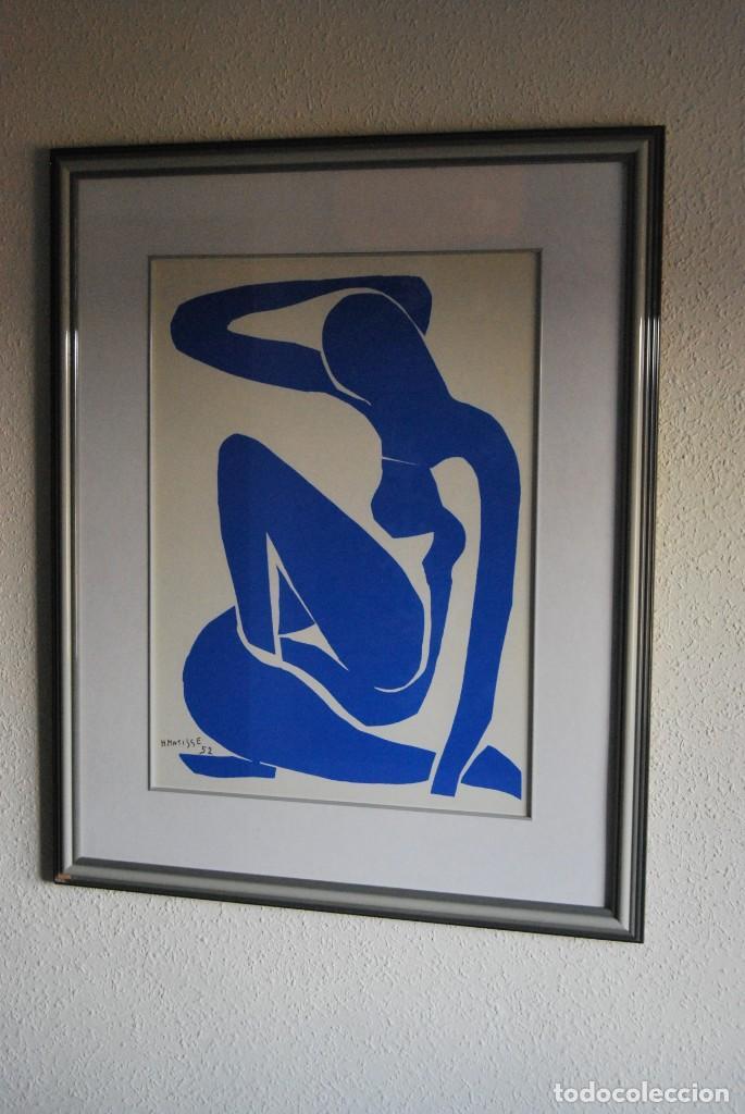 HENRI MATISSE - NU BLEU ,DESNUDO AZUL - SERIGRAFÍA ORIGINAL EDITADA POR SPADEM EN 1971 - FRANCIA (Arte - Serigrafías )