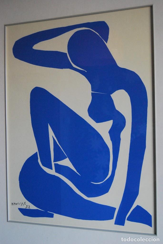 Arte: HENRI MATISSE - NU BLEU ,DESNUDO AZUL - SERIGRAFÍA ORIGINAL EDITADA POR SPADEM EN 1971 - FRANCIA - Foto 4 - 211828880