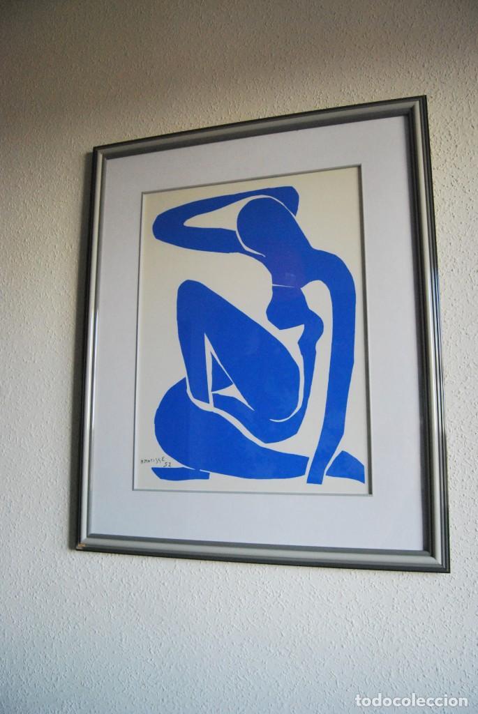 Arte: HENRI MATISSE - NU BLEU ,DESNUDO AZUL - SERIGRAFÍA ORIGINAL EDITADA POR SPADEM EN 1971 - FRANCIA - Foto 8 - 211828880