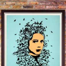 Arte: ICY AND SOT - LET HER BE FREE -SCREEN PRINT -EDITION LIMITADA DE 200. AÑO 2014- 61 X 45CM. Lote 212228946