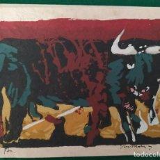 "Arte: SERIGRAFIAS ""TOROS"" DE MIGUEL ANGEL LOMBARDIA. Lote 216538093"