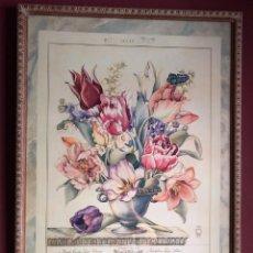 Arte: PRECIOSA LÁMINA BOUQUET DE FLORES .ELEGANTEMENTE ENMARCADA, BUEN ESTADO. Lote 216543420