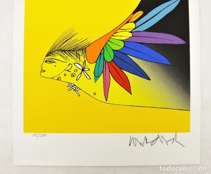 Arte: Rafael Alberti Sobre los ángeles+Serigrafía de Paul Wunderlich firmada y numerada Ed. Limitada - Foto 6 - 217022853