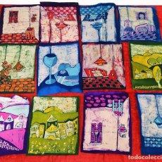 Arte: LOTE DE 40 SERIGRAFÍAS MANUALES SOBRE TEJIDO. ALGUNAS CON FIRMA. ESPAÑA. XX. Lote 217807695