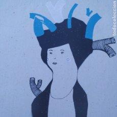 Arte: SERIGRAFÍA ORIGINAL DE CLARA GISPERT. Lote 218026575