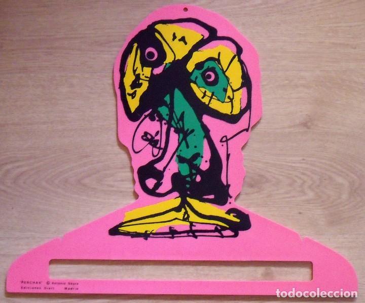 ANTONIO SAURA. PERCHA DE COLOR ROSA. EDICIONES DIART. MADRID. 1982. 34X41 CM. SERIGRAFÍA. (Arte - Serigrafías )