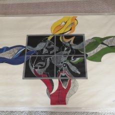 Art: SERIGRAFIA CON COLLAGE SOBRE LIENZO DEL ARTISTA PERUANO LUIS ARIAS VERA. Lote 220736868