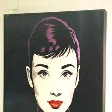 Arte: AUDREY HEPBURN NEGRA POP ART - ANTONIO DE FELIPE. LITOGRAFIA ORIGINAL FIRMADA. 96X96 CM.. Lote 222276630