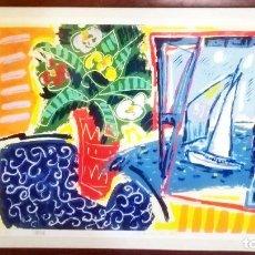 Arte: SERIGRAFIA JOSE MARIA BARREIRO. 'MAR DE CELA' GALICIA.PONTEVEDRA.FORCAREI. 6/99.TAM50X70CM. Lote 222723371