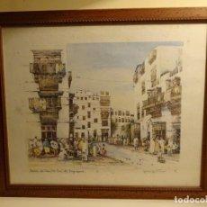 Arte: SPENCER W. TART. JEDDAH. ASH SHAM / OLD TOWN. ARABIA SAUDI. SERIGRAFÍA FIRMADA Y NUMERADA 89/999. Lote 223155738