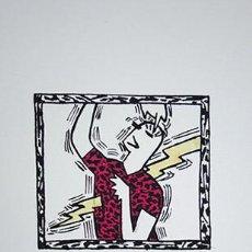 Arte: JOSÉ MALDONADO (MADRID 1962). PAREJA DE SERIGRAFÍAS, 1984. Lote 223262681