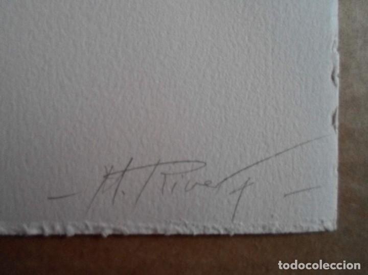 Arte: Manuel Rivera (Granada, 1927-Madrid, 1995) serigrafía 1980 de 32x49cms, firmada lápiz y num PA - Foto 2 - 122153915