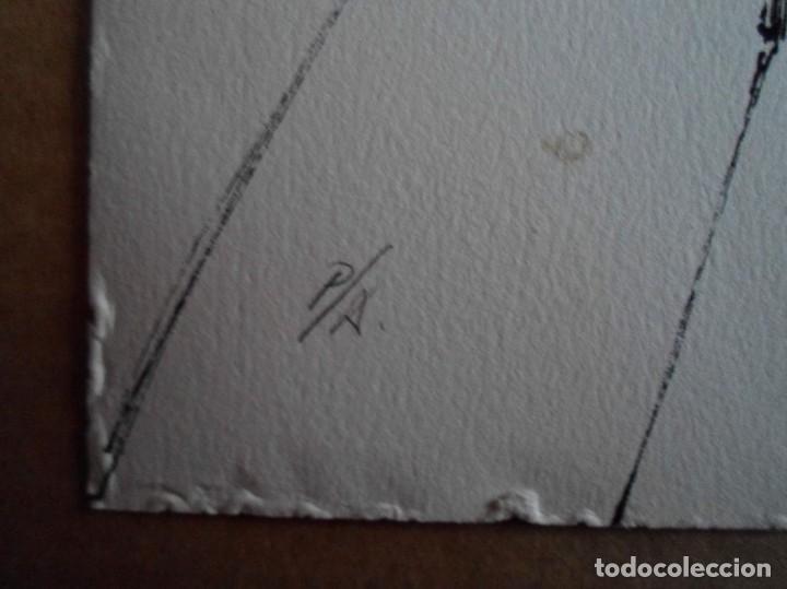 Arte: Manuel Rivera (Granada, 1927-Madrid, 1995) serigrafía 1980 de 32x49cms, firmada lápiz y num PA - Foto 4 - 122153915
