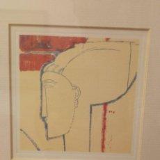 Arte: GICLÉE FIGURA DE PERFIL. Lote 226071425