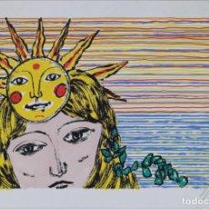 Arte: MUJER SOL , OBRA A DOCUMENTAR FIRMADA Y NUMERADA 44/50. Lote 226713140