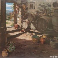 Arte: TOMAS VILÁ PUIGDEMONT (LA CELLERA DE TER, 1952) - BODEGA.FIRMADA.2015.. Lote 230504030