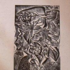 Arte: RAUL CAPITANI. LAS MANOS DE LA MUJER Y PALOMA. SIN FIRMAR. PAPEL ARTESANAL. PRUEBA DE ARTISTA.. Lote 230869270