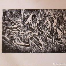 Arte: RAUL CAPITANI. ROSTROS Y PERSONAJES. SIN FIRMAR. PRUEBA DE ARTISTA. GRABADO. 30X35,5 CM.. Lote 230869785