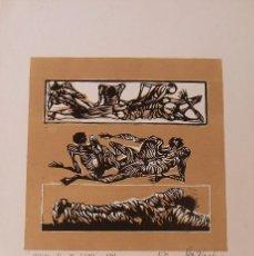 Arte: RAUL CAPITANI. CRÓNICAS DE MI TIEMPO. 1969. NUMERADO 5/30. FIRMADO A MANO. PRUEBA DE ARTISTA.. Lote 230870005