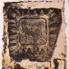 Arte: RAUL CAPITANI. ASTRO SOLAR Y ROSTROS. FIRMADA EN PLANCHA. PAPEL GUARRO. 51X35 CM. BUEN ESTADO.. Lote 230870165