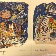 Arte: SERIGRAFIAS ORIGINALES JAVIER MARISCAL, EL FUEGO Y LA RUEDA. Lote 232444860