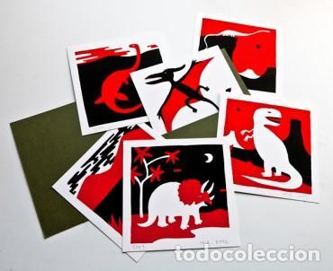 MAURO ENTRIALGO DINOAURIOS. CARPETA COMPUESTA POR 6 SERIGRAFÍASM Nº 69 (Arte - Serigrafías )