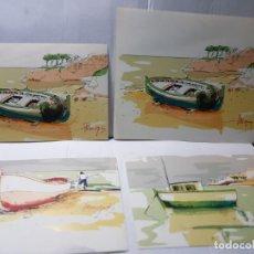 Arte: LAMINAS SERIGRAFIADAS SOBRE EL MAR FIRMADAS Y RETOCADAS A MANO SERIE LIMITADA A 25 MARGE. Lote 238487510