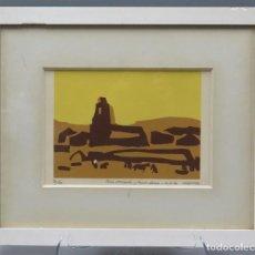 Art: SERIGRAFIA. VAQUERO PALACIOS (OVIEDO 1900-MADRID 1998). FIRMADA Y NUMERADA. Lote 241112975