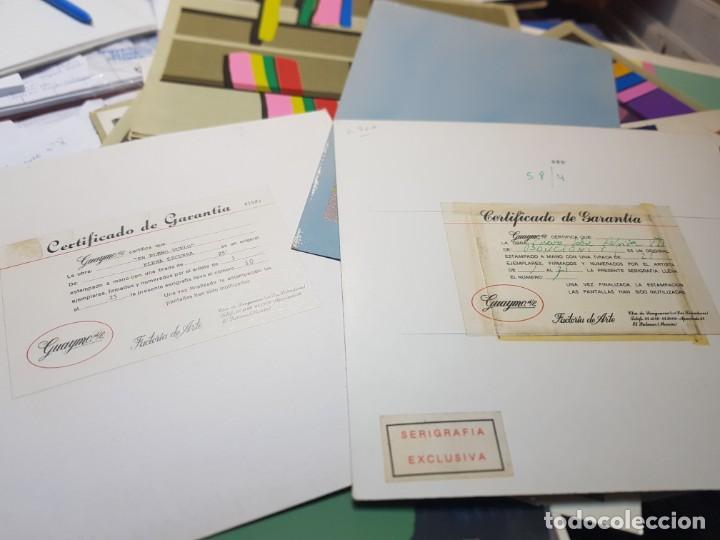Arte: Serigrafía obras Firmadas y Retocadas a Mano por autor lote 91 algunas certificadas - Foto 7 - 241402310