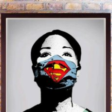 Arte: PÓSTER SUPER NURSE PRINT DE FAKE PERFECTO (BANKSY, INVADER, OBEY)50 X 70 CM. Lote 243692190