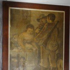 Arte: CUADRO DE PEDRO MOZOS- REPRO EN SERIGRAFÍA BARNIZADA S/TABLA ENMARCADA. Lote 246312135