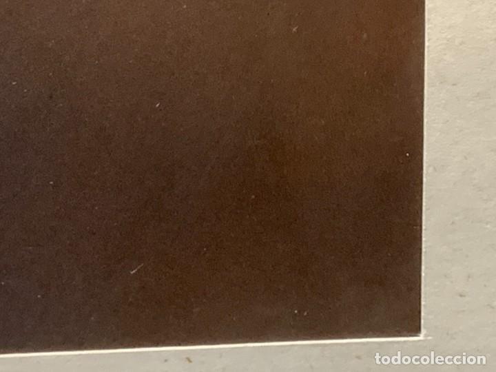Arte: SERIGRAFIA CMPOSICION OVALO HUEVO AMARILLO FONDO MARRON FIRMA ABOLI 1975 53X67CMS - Foto 6 - 246772215