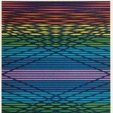 Art: COMPOSICIÓN RAYAS COLORES - EUSEBIO SEMPERE ( VALENCIA, 1923-1985) - 76 X 55,5 CMS. SERIE 65/75. Lote 250326045