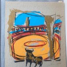 Arte: JULIO JUSTE , SERIGRAFIA EN CARPETA , EDIC. DE 80 , GRANADA , BRANDY BRINDIS. Lote 251407705