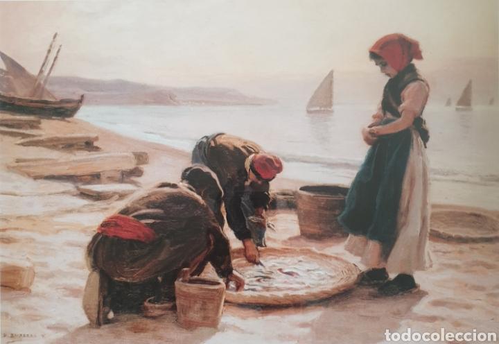 DIONIS BAIXERAS VERDAGUER (BARCELONA, 1862-1943) - PESCADORES EN LA PLAYA. (Arte - Serigrafías )