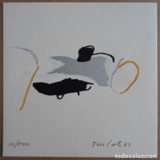 Art: RAFEL TUR I COSTA (IBIZA MALLORCA 1927) SERIGRAFÍA 1972 DE 14X14CMS FIRMADA LÁPIZ Y 14/500. DEFECTO. Lote 251502490