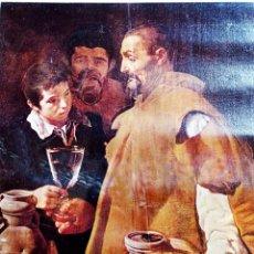 Arte: OBRA DE - DIEGO VELAZQUEZ - EL AGUADOR DE SEVILLA -OIL ON GANVAS -IMPRESIÒN SOBRE TELA DE LIENZO, MU. Lote 253943740