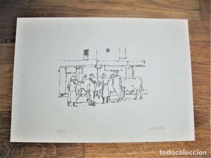 """Arte: SERIAGRAFÍA DE AGUSTÍN REDONDELA, NUMERADA 32/125 Y FIRMADA A LAPIZ. NUNCA ENMARCADA """"FERIA"""" - Foto 2 - 254701525"""