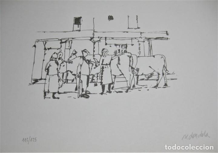 """Arte: SERIAGRAFÍA DE AGUSTÍN REDONDELA, NUMERADA 32/125 Y FIRMADA A LAPIZ. NUNCA ENMARCADA """"FERIA"""" - Foto 3 - 254701525"""