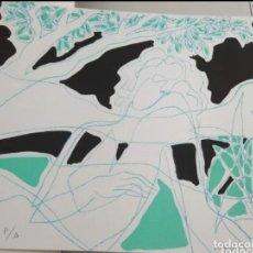 Arte: PEDRO SOBRADO SERIGRAFÍA 1988 P/A 28×38. PAPEL BÍBLOS 250 GR. IMPRESA A TRES TINTAS TALLERES HERMUR. Lote 256042890