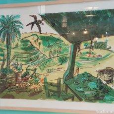 "Arte: JAVIER MARISCAL (VALENCIA,1950) ""COBI"" SERIGRAFIA FIRMADA Y NUMERADA 22/60 (50 X 70). Lote 257412655"