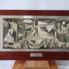 Arte: ¡¡ PABLO PICASSO, EL GUERNICA, SERIGRAFIA. PLANCHA SOBRE MADERA.!!. Lote 261921065
