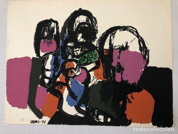 Arte: SERIGRAFIA DEL ARTISTA GALLEGO ALBERTO DATAS. TIRADA LIMITADA. FIRMADA POR EL ARTISTA. AÑO 1971 - Foto 2 - 262504980