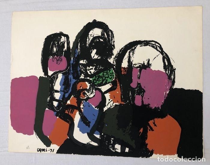 Arte: SERIGRAFIA DEL ARTISTA GALLEGO ALBERTO DATAS. TIRADA LIMITADA. FIRMADA POR EL ARTISTA. AÑO 1971 - Foto 5 - 262504980