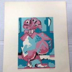 Arte: SERIGRAFIA ABSTRACTA DEL ARTISTA SEVILLANO LUIS GORDILLO. TIRADA LIMITADA. AÑO 1971. FIRMADA. Lote 266880579