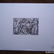 Arte: SERIGRAFÍA DE PEDRO CASTRO COUTO 16/50 MONUMENTO A CURROS I MIDE 33 X 48CM. LATERAL DO MUNUMENTO I. Lote 267236249