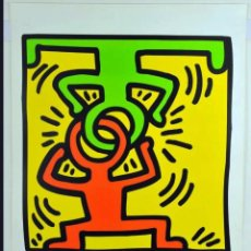 Arte: PÓSTER-KEITH HARING -DRAWING FOR HEADSTAND- EXPO SAN FRANCISCO MUSSEUM ART MODERNO 1998- 90X58 CM. Lote 268179074