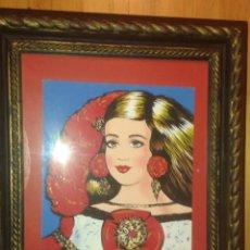 """Arte: ARTE SERIGRAFRIA NUMERADA DE ANTONIO DE FELIPE. """"MUJER EN ROJO AZUL"""" MENINA. Lote 268769824"""