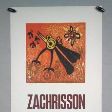Arte: JULIO ZACHRISSON. FIRMADO 22/50. GALERÍA SEIQUER, MADRID, 1967. Lote 272292628